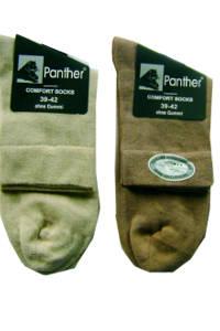 Größe 40 0651e e882a Panther Herren Kurzsocken in Brauntönen ohne Gummibund, 2 Paar
